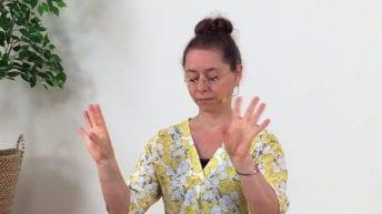 Ontspannen hand meditatie