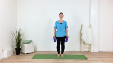 yoga met blokken